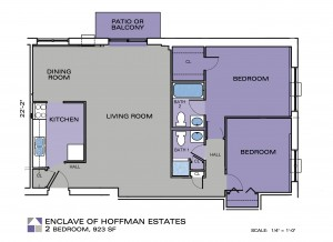 Enclave Apartments Two Bedroom Floor Plan