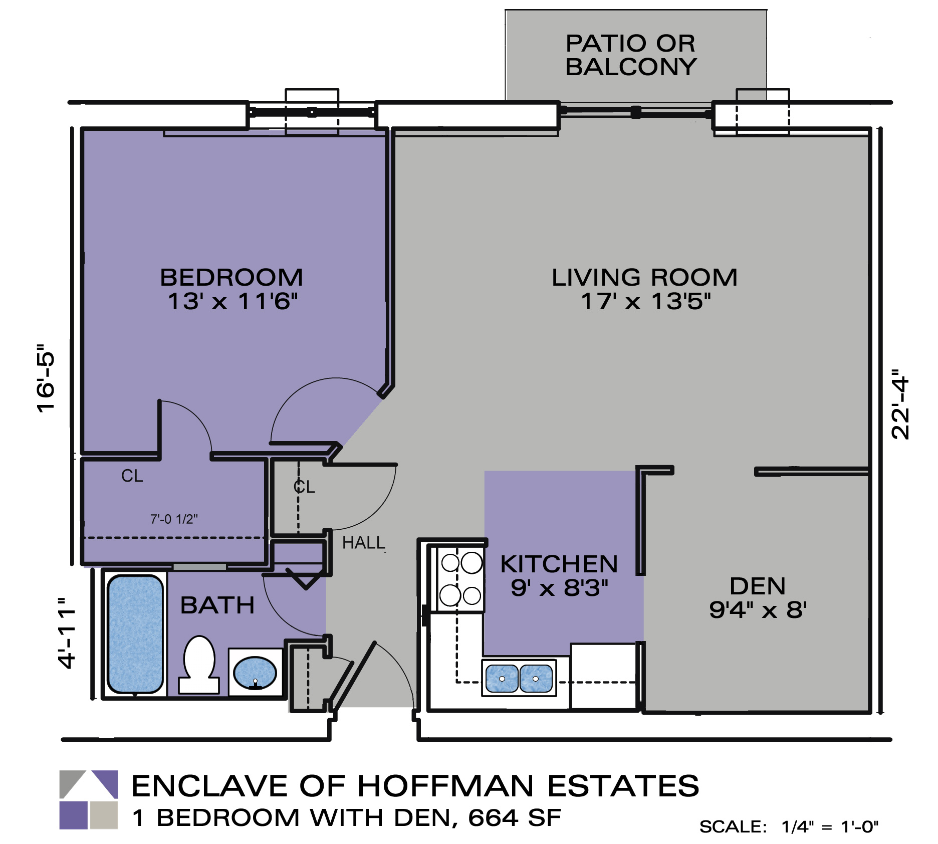 One Bedroom Apartment With Den